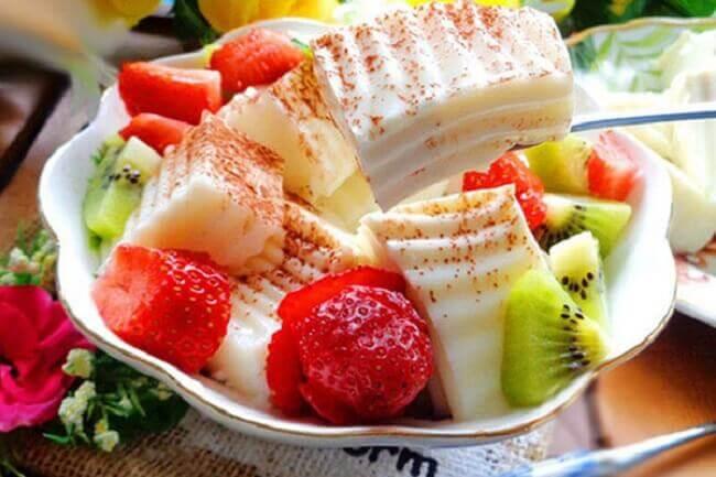 Món ăn vặt cho người ăn chay siêu gây nghiện là sữa chua dẻo