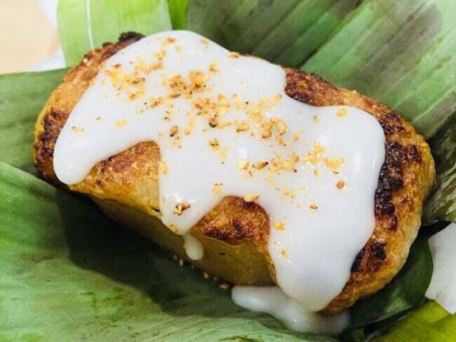Chuối nướng là một trong những món ăn vặt cho người ăn chay.