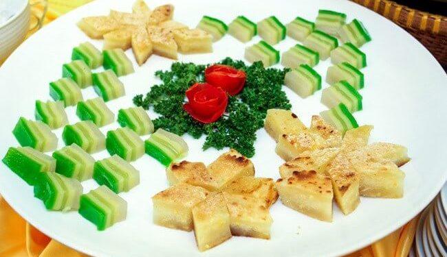 Các món bánh chay được dùng nhiều trong các dịp lễ tết