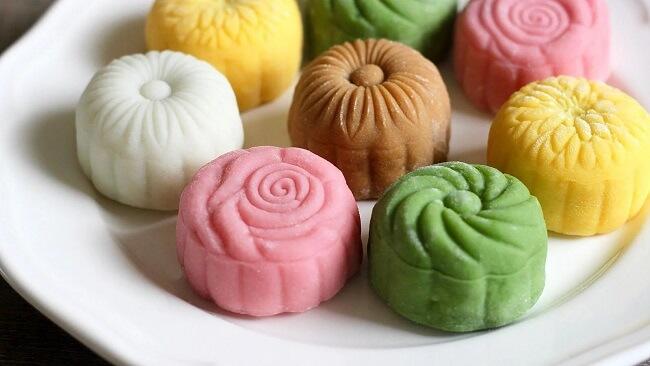 Bánh dẻo chay ngũ sắc - Loại bánh chay cho người ăn chay