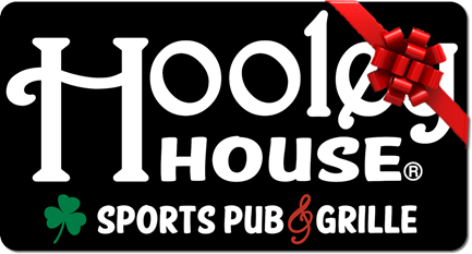 Hooley House gift card with red ribbon