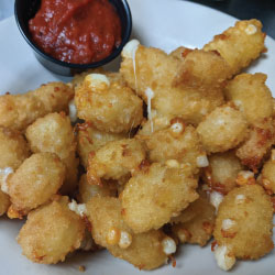 Cheese Curds with a side of marinara
