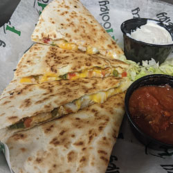Quesadilla with grilled chicken