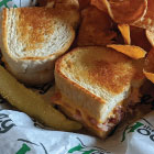 Kids Grilled Cheese with ham and pub chips