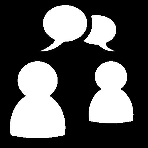 speech bubbles white icon