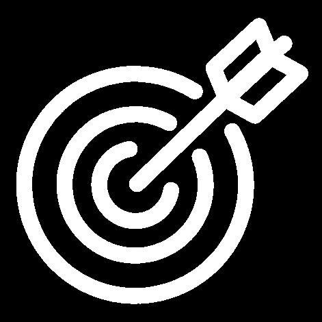 white bullseye target icon