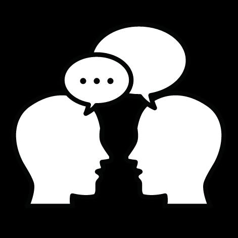 white speech bubble icon