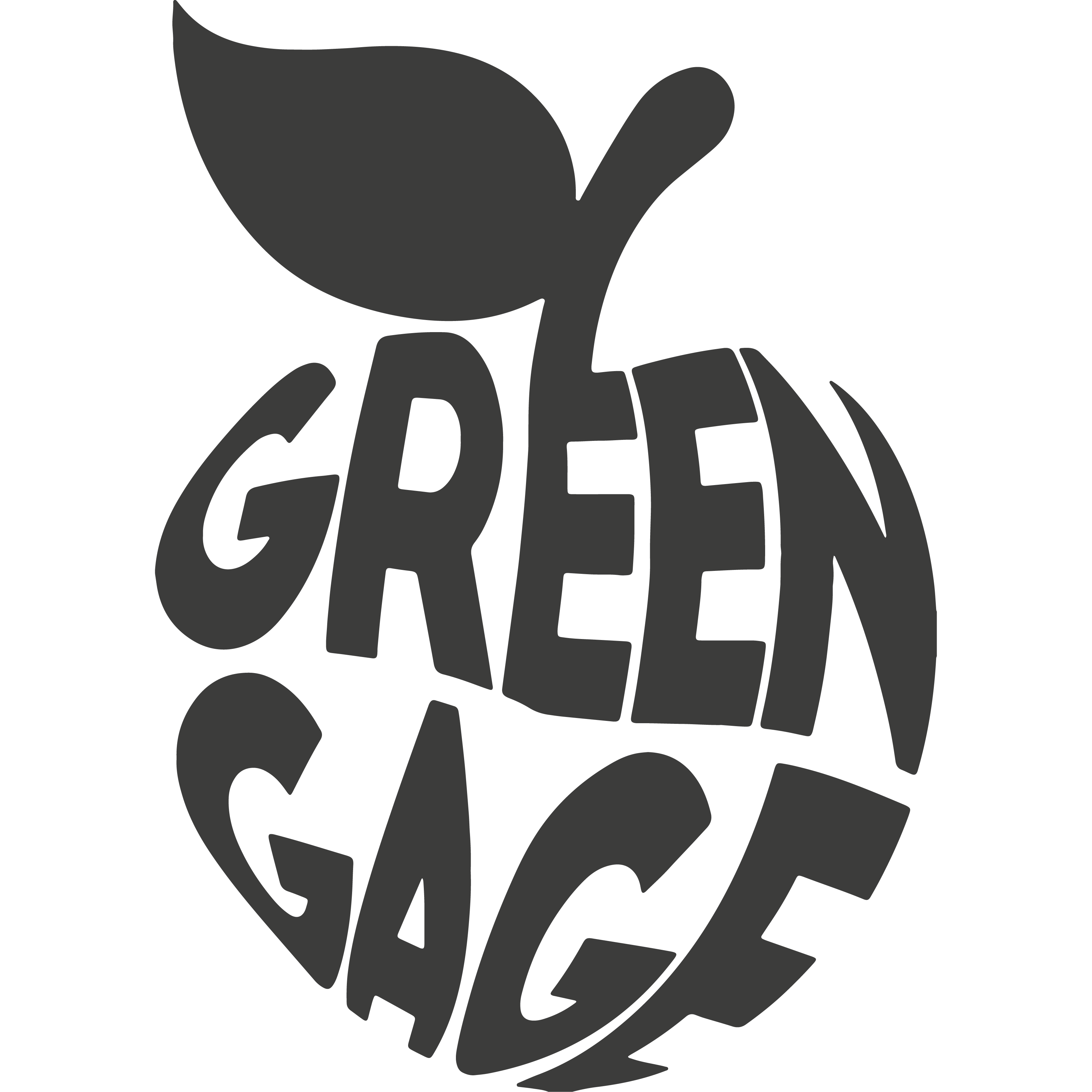 Greengage logo in black