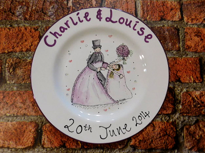Wedding Plate Gift Ceramic