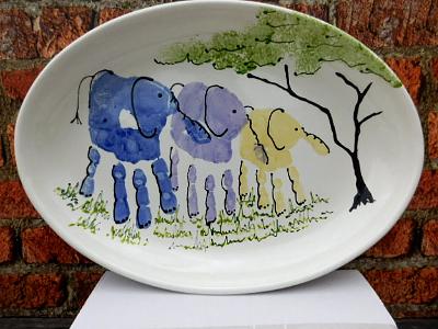 Elephant hand printing