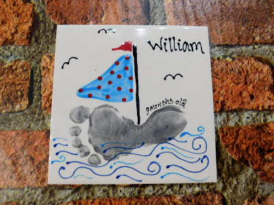 Hand Print Kids Name Tile
