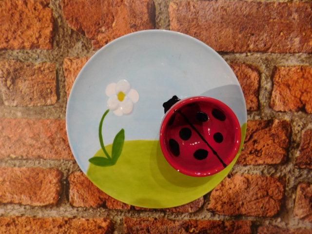 Ladybird Ceramic Plate