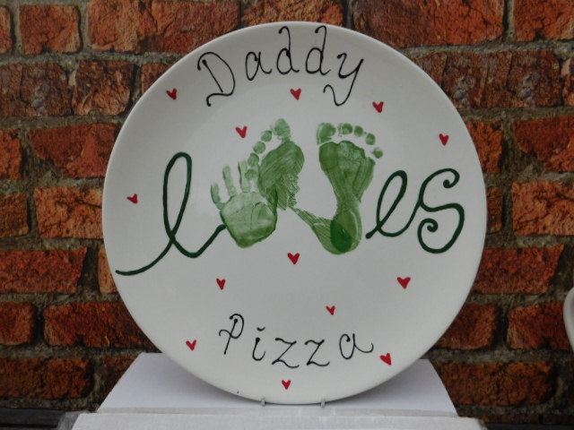 Round Plate Hand Print Commission
