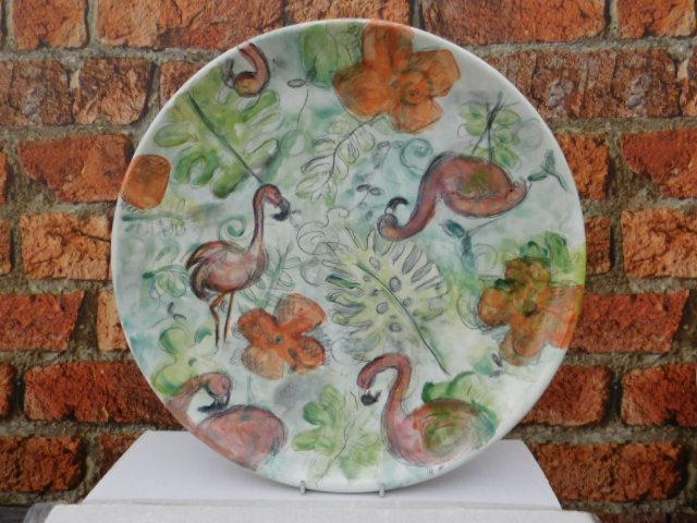 Flamingo Plate Ceramic