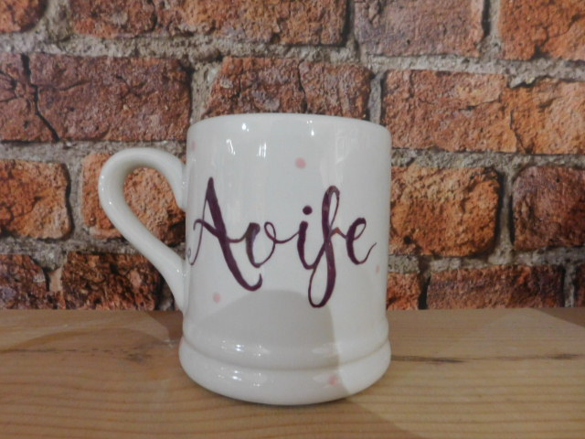 Hand painted personalised mug