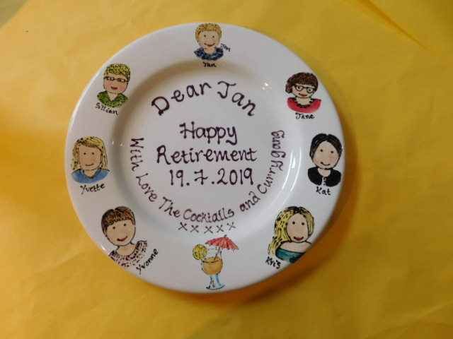 hand painted retirement gift