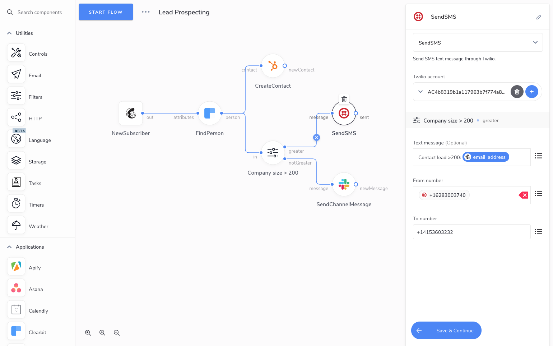 Appmixer drag & drop Workflow Designer UI