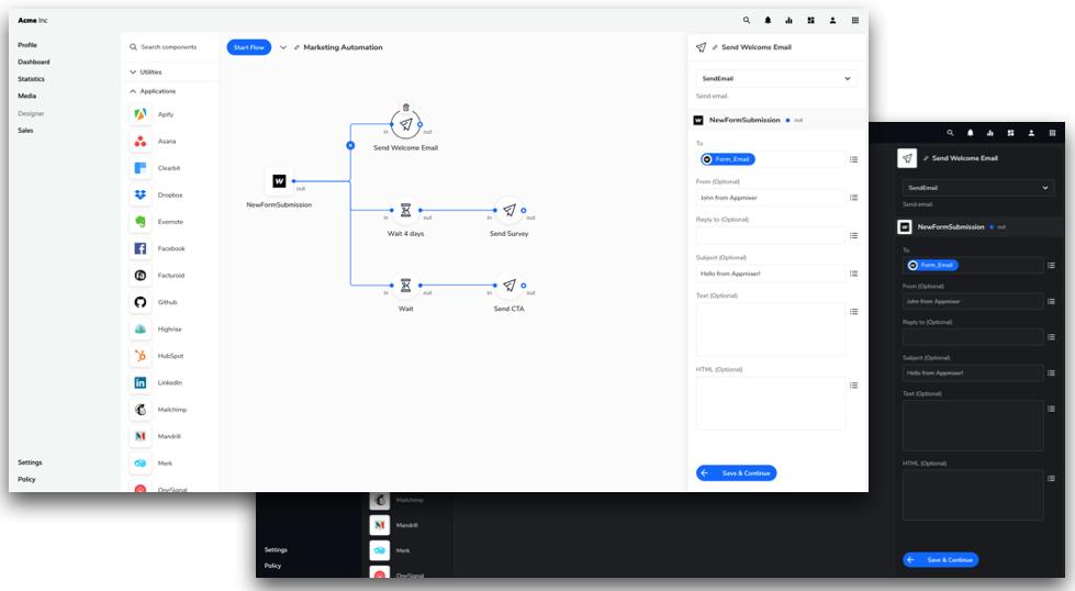 Appmixer UI widgets customization capabilities