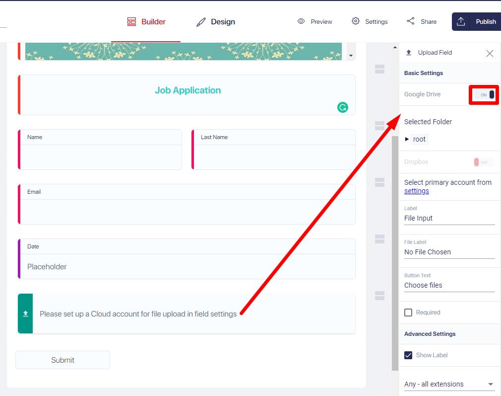 Set up File Destination - MightyFomrs
