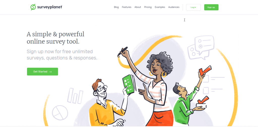 SurveyPlanet Homepage Screenshot