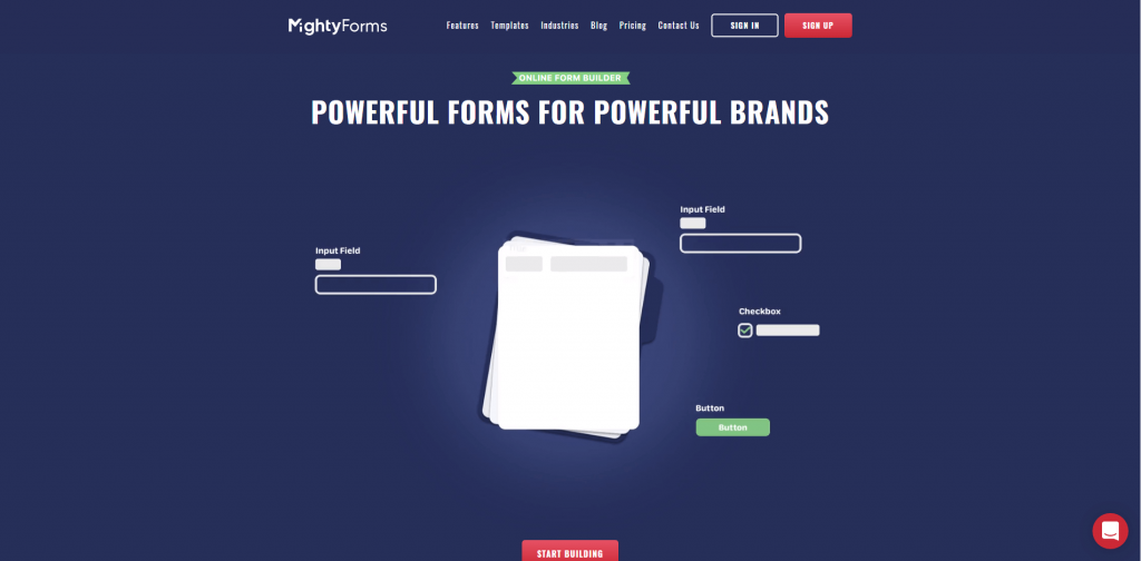 MightyForms Homescreen screenshot