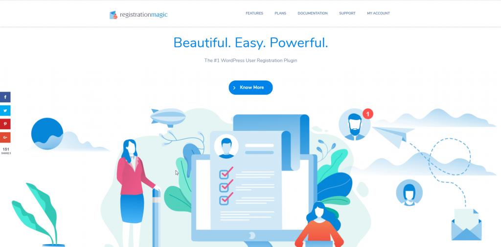 Registrationmagic Homescreen Screenshot
