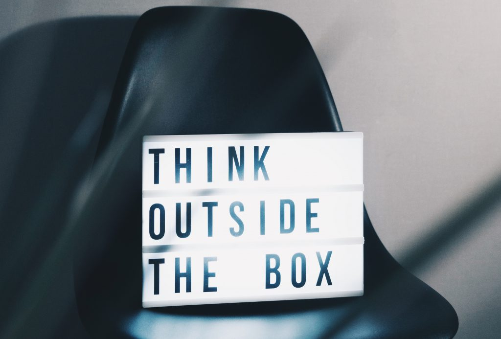 Think outside the box - sign
