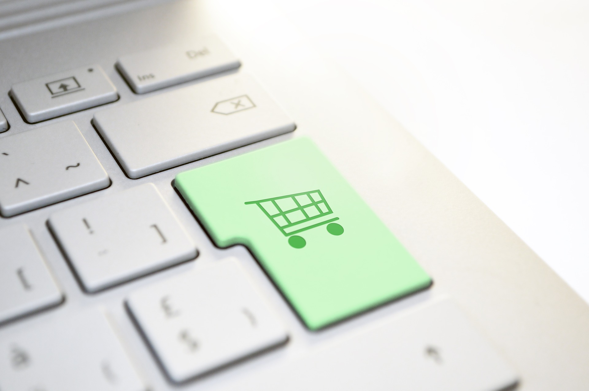 online shopping button keyboard