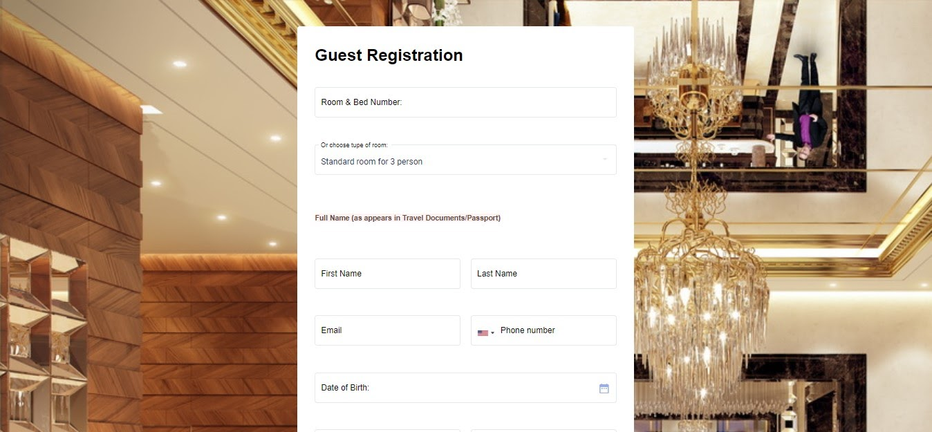 Guest Registration Form template MightyForms