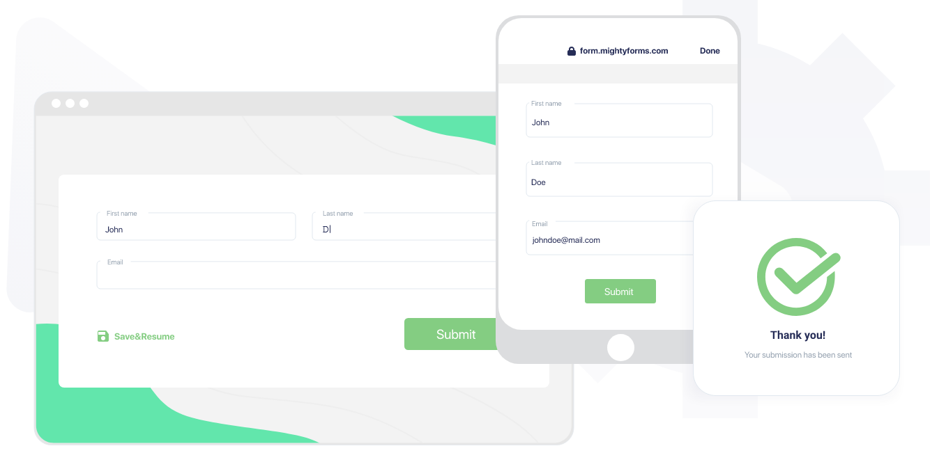 Save and Resume form functionality - MightyForms