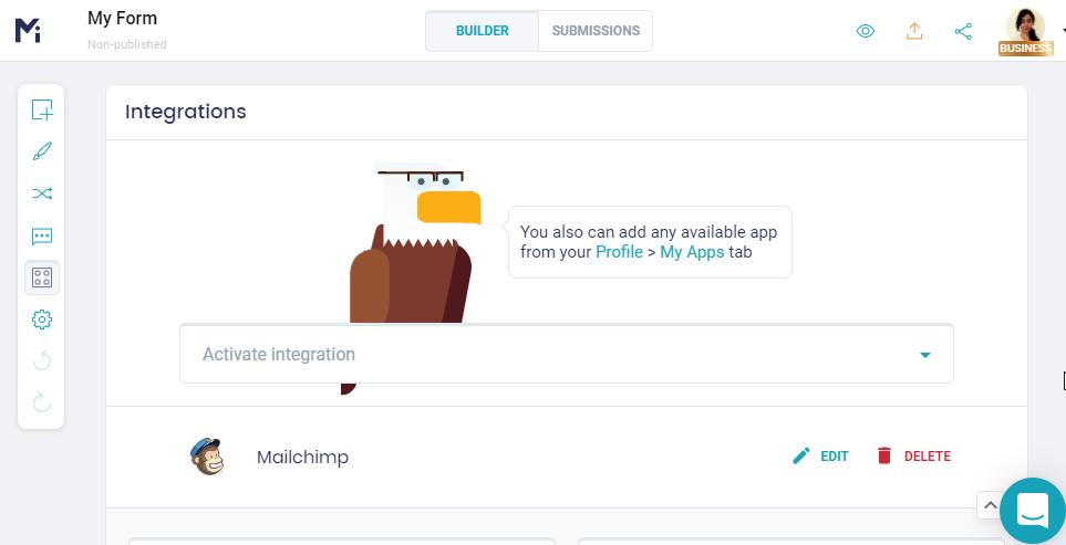 Mailchimp form builder integration _ MightyForms
