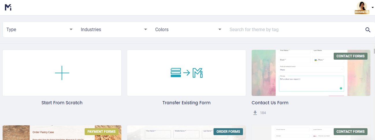 Create a New Online Form _MghtyForms