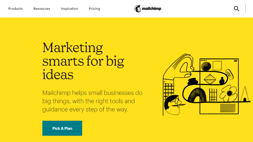 Mailchimp email marketing home page
