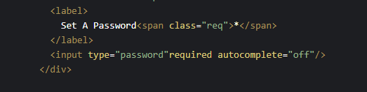 HTML Form with autocomplete OFF example