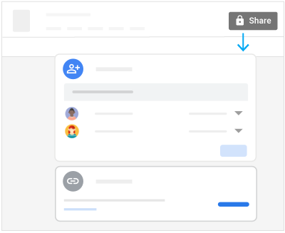 Click Share to open the window where you add people, then click Send