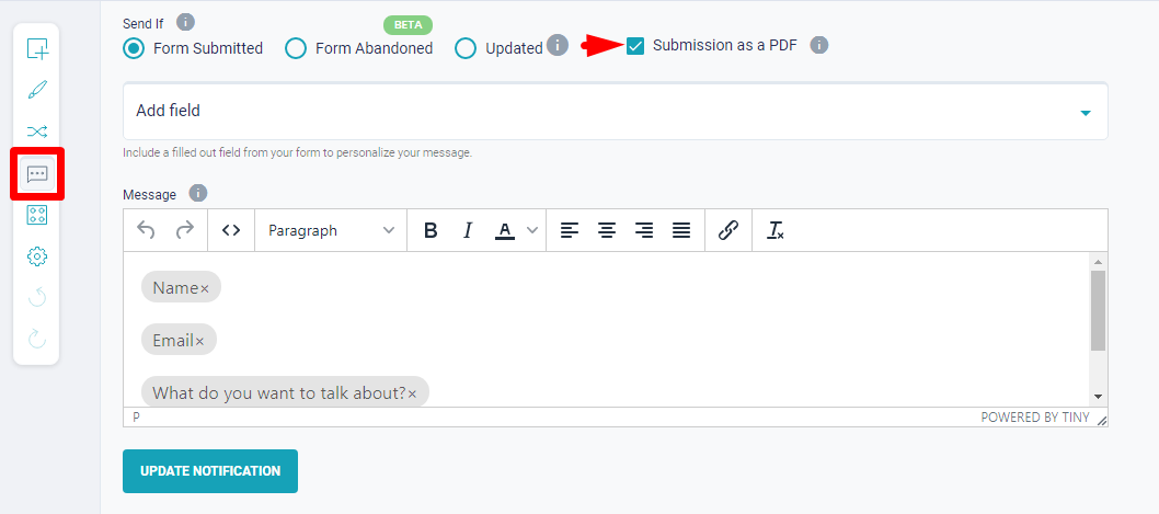Send Form Submission as a PDF online _ MIghtyForms