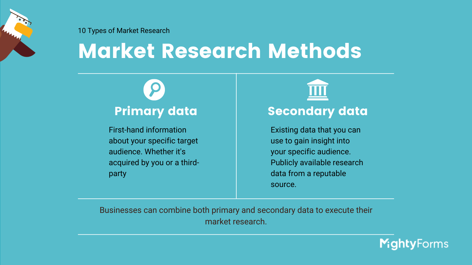 market research methods infographic_ primary vs secondary data _MightyForms