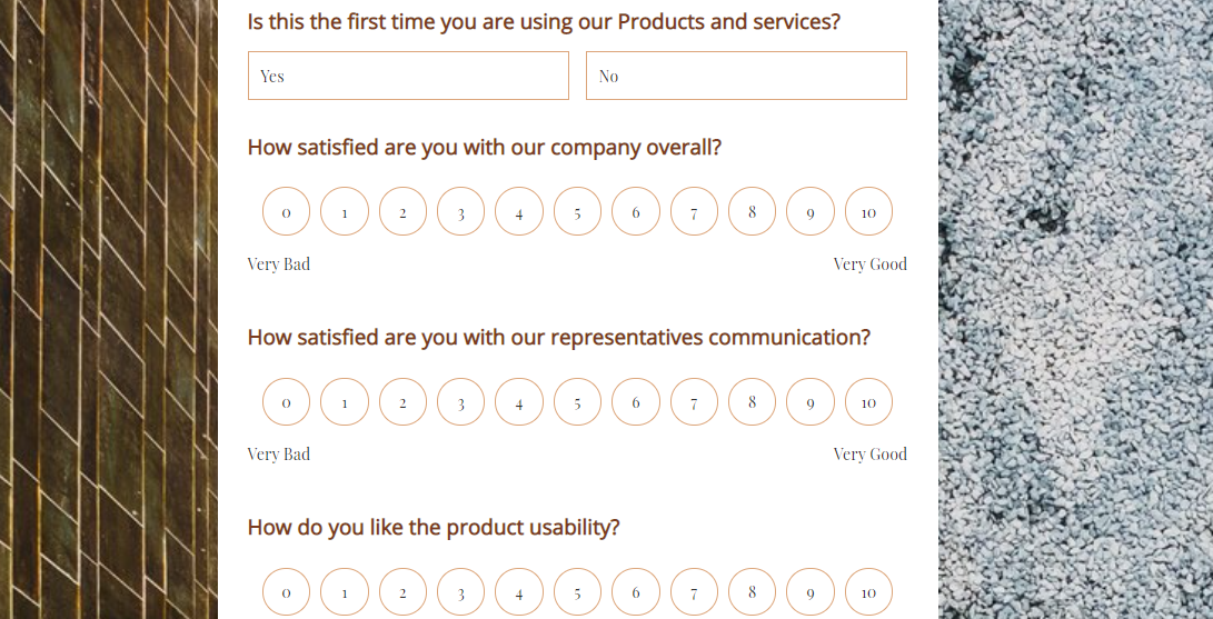 Product Satisfaction Survey Form template MightyForms