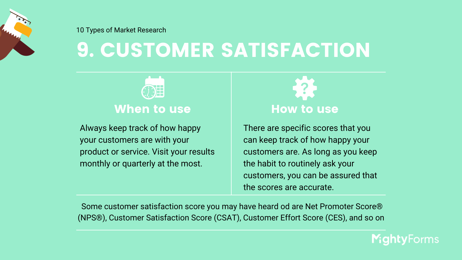 Types of Market Research - Customer satisfaction - infographic_ MightyForms