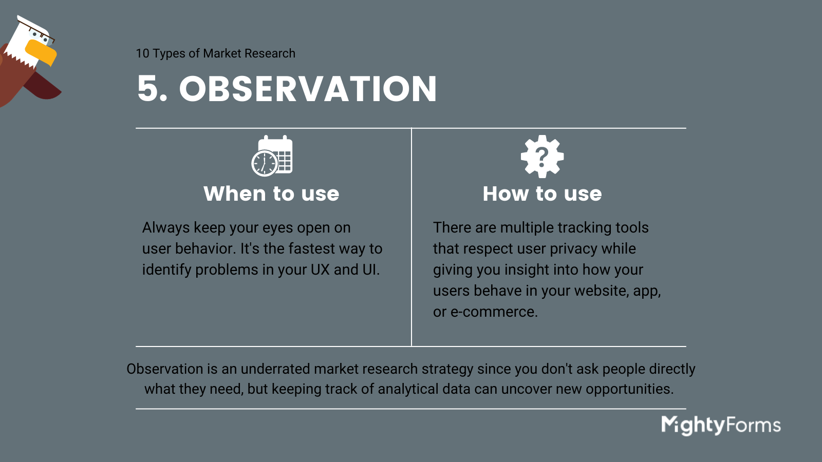 Types of Market Research - observation - infographic_ MightyForms