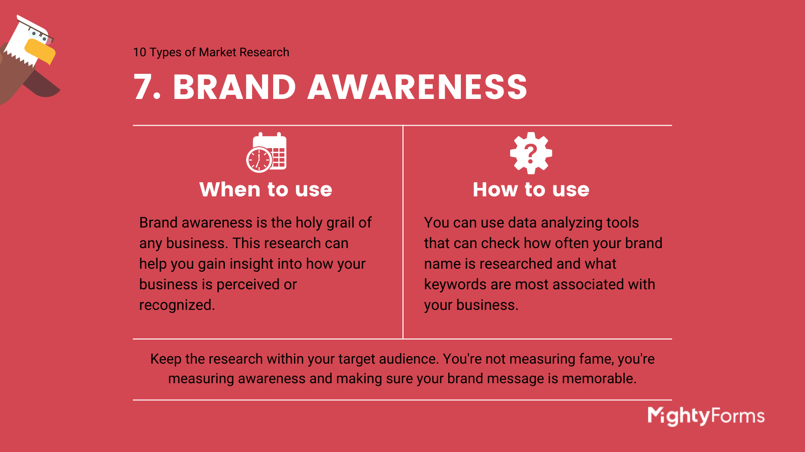 Types of Market Research - Brand awareness - infographic_ MightyForms