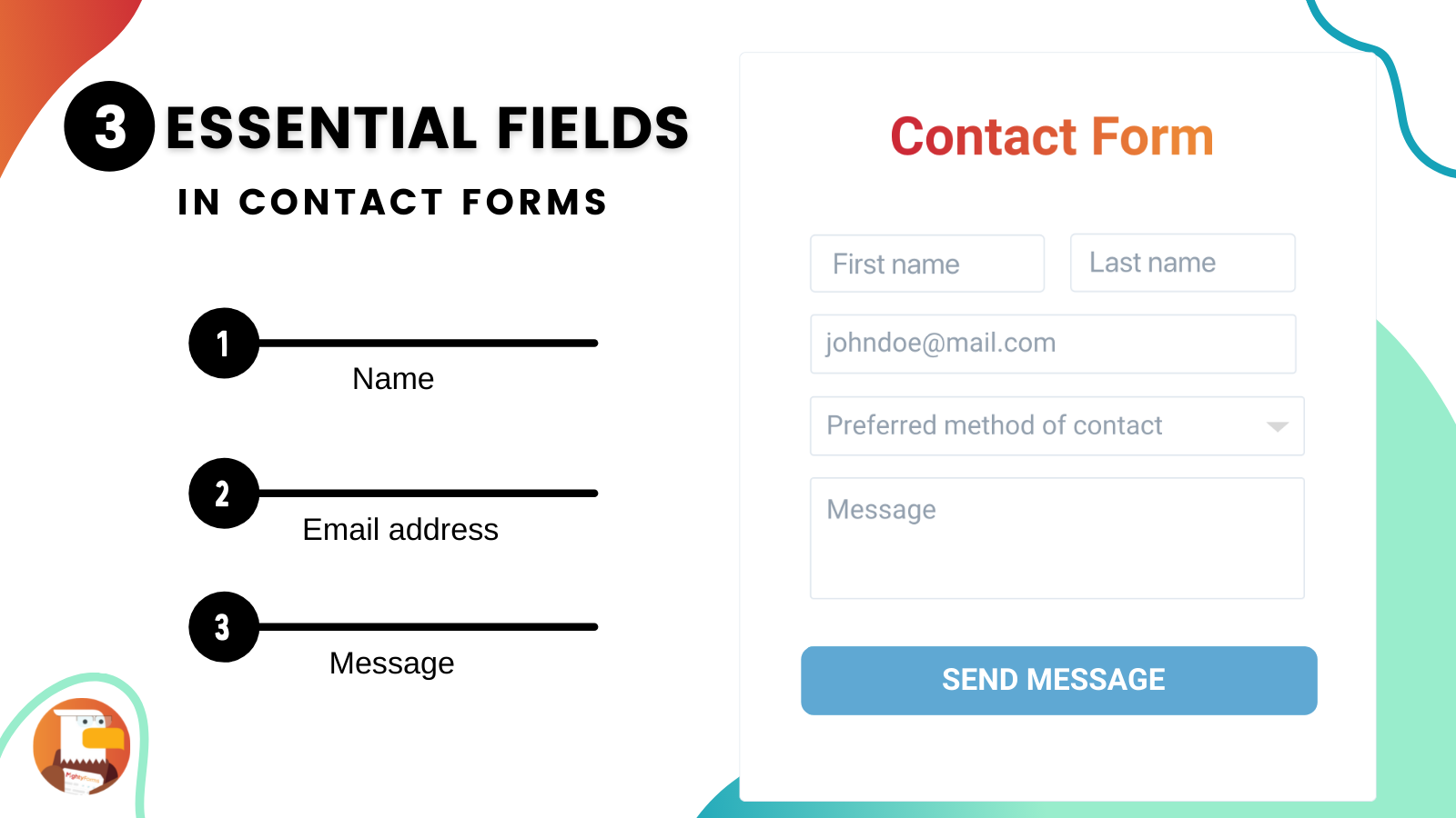 Contact us form must-have form fields infographic _ MightyForms