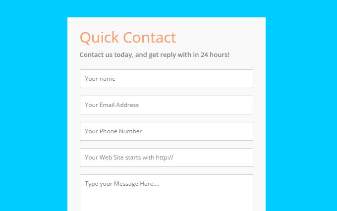 HTML5 Contact Form by ssbalakumar