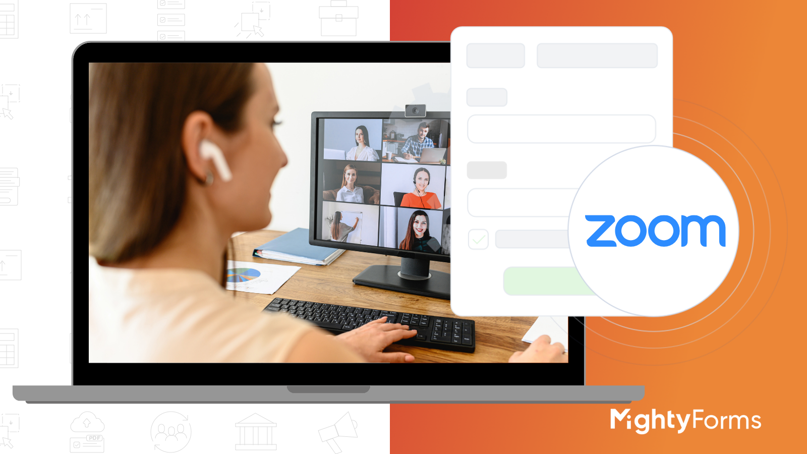 Zoom meeting scheduling with MightyForms Form creator