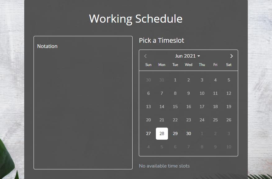Work Schedule form template - MightyForms