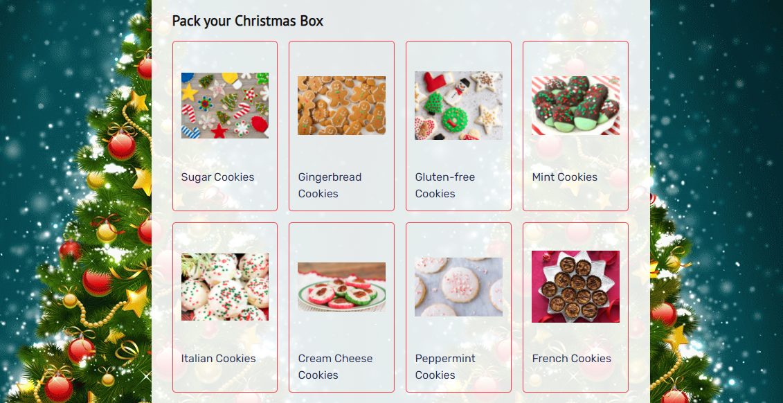 Christmas Cookies Order Form template _ MightyForms.com