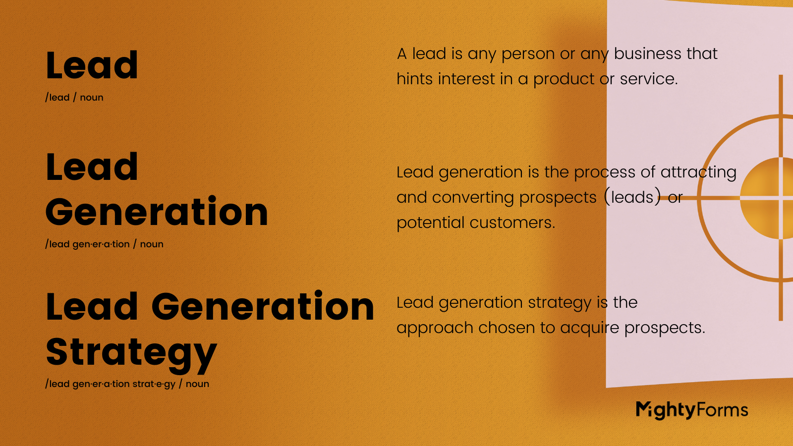 lead generation strategies definition infographic