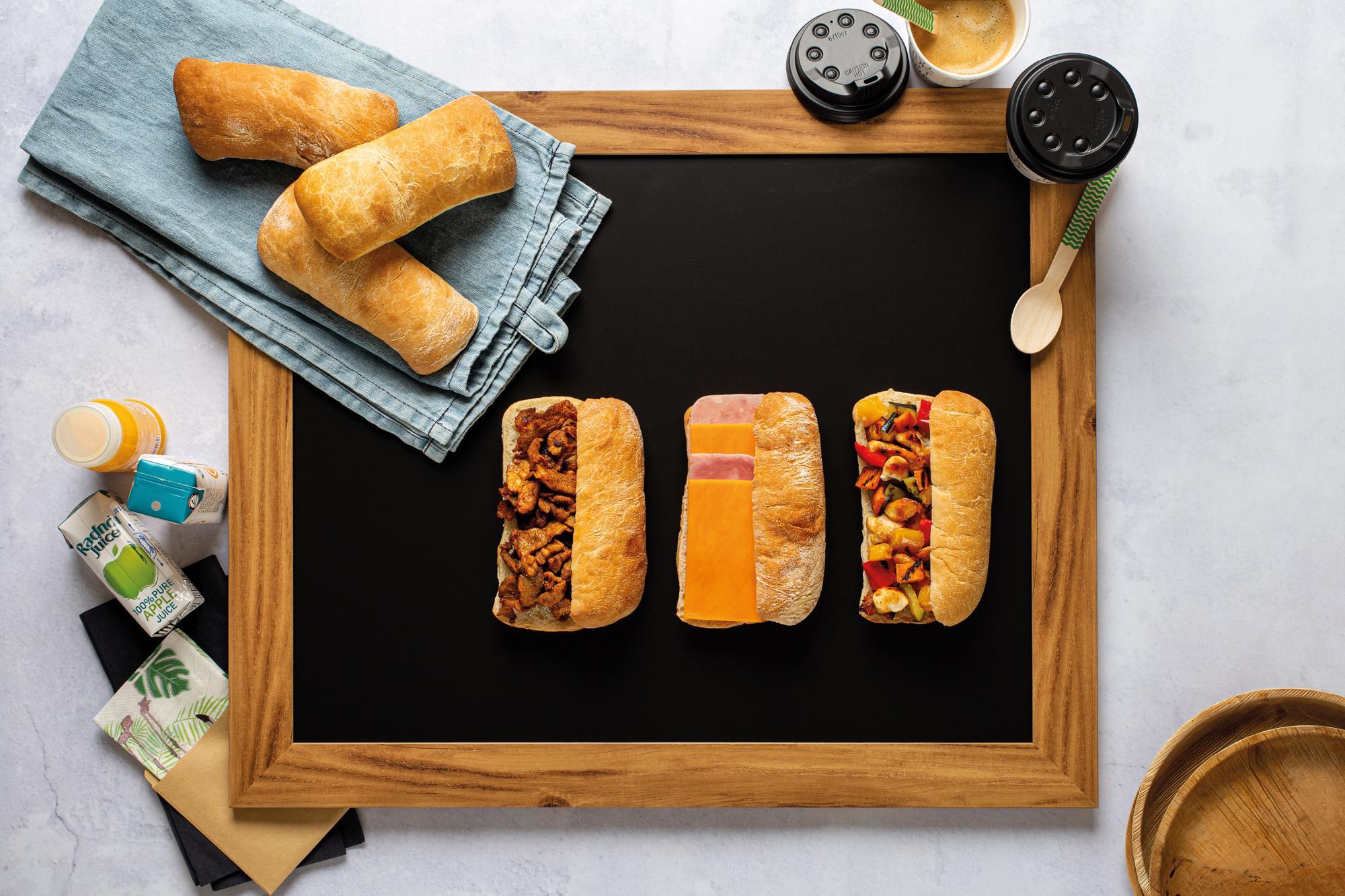 Travel snack panini to go