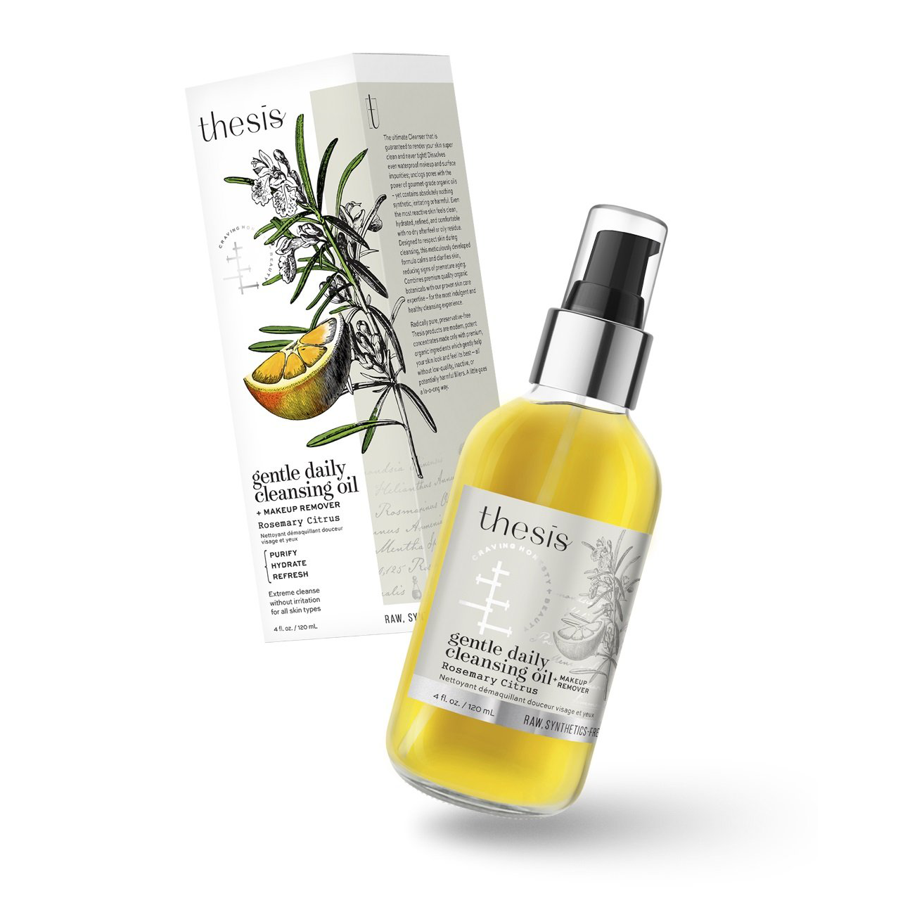 Rosemary Citrus Facial Cleansing Oil & Makeup Remover
