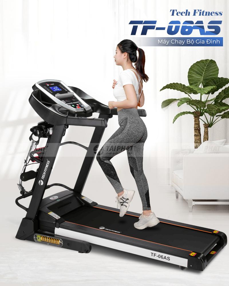 Máy chạy bộ Tech Fitness TF-06AS - Máy chạy bộ giá rẻ với chất lượng hàng đầu